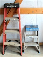 (2) Small Step Ladders