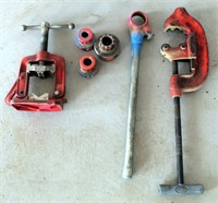 Pipe Cutters, Vise, Threaders