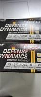 50 rds 12 ga 9 pellet Fiocchi defense buckshot