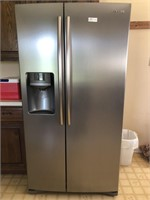 Samsung side by side refrigerator with smudge