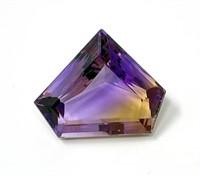 Triangular Shaped Fantasy Cut Ametrine