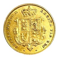 Victoria Gold Half Sovereign 1842
