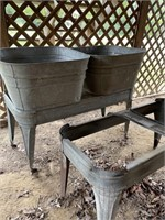 2 Wash Tubs with Stand