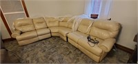 Leather Electric Reclining Sectional