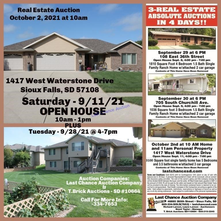 Real Estate Auction - 10/2/21