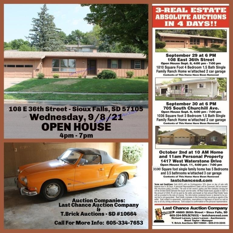 Real Estate Auction - 9/29/21