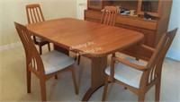 Teak Dining Room Table w/ 4 Chairs
