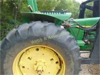 John Deere 2840 tractor, ROPS, Engine has a rod