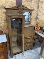 Victorian Oak Side by Side / Secretary Desk