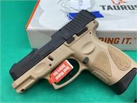 Taurus G2 C semi auto 9 mm pistol with FDE frame
