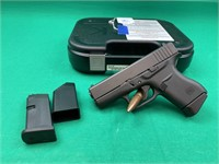 Glock 43 semi automatic 9 mm pistol with two