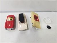 3 Slot Cars (2 need repair)