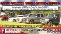 Carr Estate Online Auction, Webb AL - ends 9/23/21