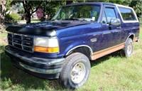 1994 Ford Bronco SUV Eddie Bauer Edition ~ Blue