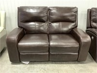 Cheers Leather Power Recline Loveseat