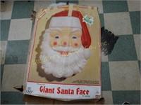 "Vintage Blow Mold Giant Santa Face 36""h in orig."