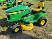 """John Deere X300 Riding mower 42"""" deck, 546 Hrs,"""
