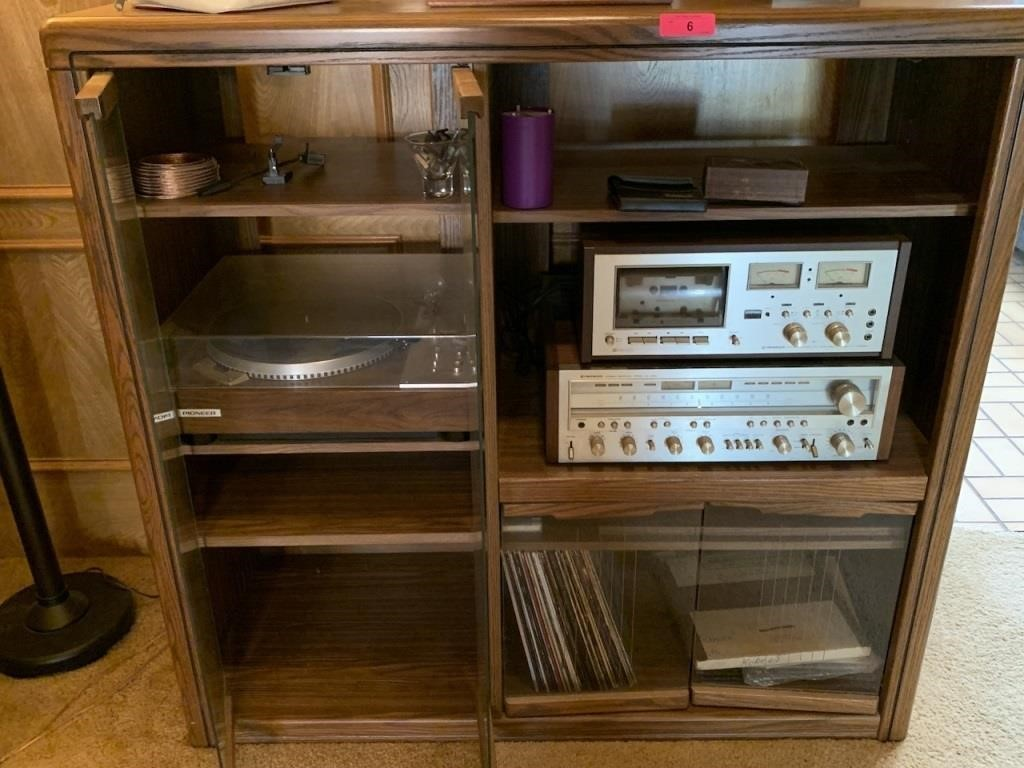 CABINET W PIONEER HIGH END AUDIO SX-1050 MORE NOTE