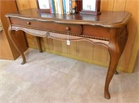 Hall table 50x19x27 H & contents