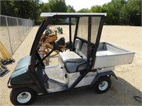 Club Car gas powered golf cart w/ aluminum dump bo