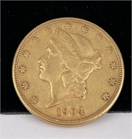 1904 S $20 US Liberty Head Gold Coin