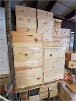Pallet of 10 frame brood boxes