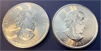 (2) 1.5 Oz. Silver Roaring Grizzly Coins (3oz