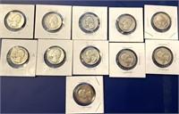 (11) Silver Quarters 1950-1960