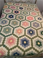 Vintage Full Size Quilt, Hand Stitched