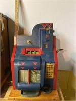 Antique Mill's Novelty Chevron 5 Cent Slot Machine