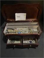 jewelry box of costume jewelry