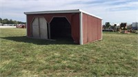 Open Front Shed - Two Door Openings