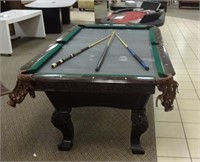 pool table, needs new felt, sticks not included