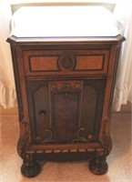 Vintage one-drawer carved Nightstand