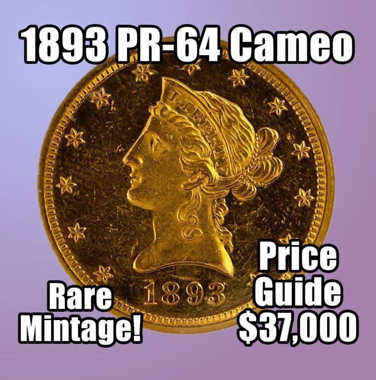 RARE COINS - 200 Silver Dollars, Gold, & Rarities
