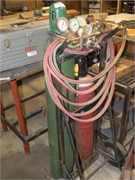Oxy Acetylene Set on Cart w/Victor Torch & Gauges