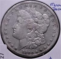 1890 CC MORGAN DOLLAR F