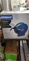 Kobalt retractable hose reel with hybrid hose