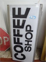 """Coffee Shop lighted sign 50"""" x 24"""" x 9"""""""