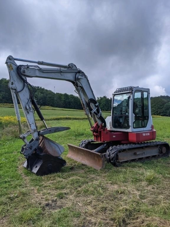 2014 Takeuchi TB 180 FR Excavator W/ Cab-2 Buckets