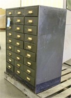 Metal 27-Compartment Storage Cabinet w/Tools &