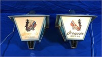 IROQUOIS BEER & ALE LAMPS