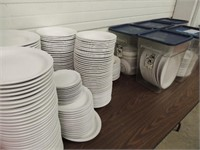 RESTURANT DISHES & TOTES SOLD AS LARGE LOT