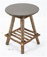 Grey Twig Table With Grey Painted Top