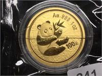 2000 China 100yen 1oz. Gold