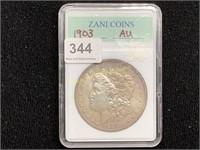 1903 Silver Morgan Dollar AU