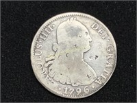 1796 Spanish 8 Reales struck in Mexico City