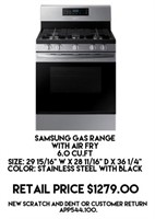 Samsung Gas Range w/Air Fry