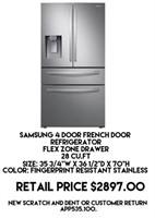 Samsung 4 Door French Door Refrigerator