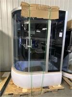 Freestanding Corner Tub & Shower Unit
